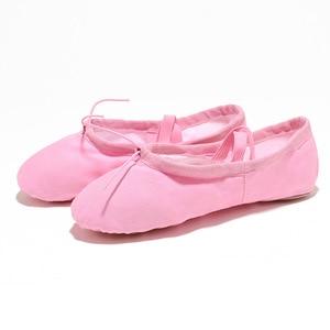 Image 5 - USHINE EU22 45 Cloth Head Yoga Slippers Teacher Gym Indoor Exercise Canvas Black Ballet Dance Shoes Children Kids Girls Woman