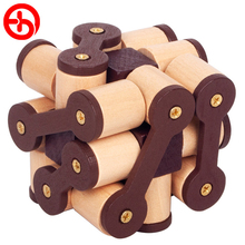Wooden Burr Puzzles Games Toys For Children Dragons Chain Educational Puzzle A Montessori Toy Challenge IQ Hobby Gift Adult