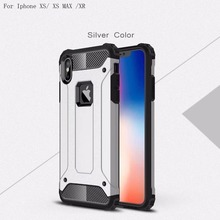 Coque Case For Iphone XS Max Cover Silicone + PC Heavy Duty Hybrid Armor 5.8 XR 6.1 MAX 6.5X