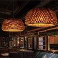 2019 nuovo Rattan bambù nido nido Cinese antico Lampadario Lampada LED lanterne lampade living room hotel ristorante MING