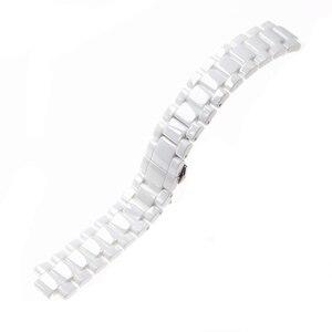 Image 5 - アルマーニに適用セラミック腕時計 20mm23mm黒、白高輝度セラミックストラップ時計モデルAR1424 AR1472 AR1421 AR1424 時計バンド
