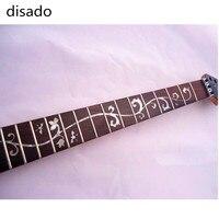 disado 24 Frets Mosaic flowers Electric Guitar maple Neck guitar strings lock Wholesale Guitar accessories parts