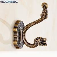 New European Zinc Alloy Dragon Robe Hook Clothes Hanger Hook Door Wall Mounted Hat Bag Hanger Bathroom Towel Hook