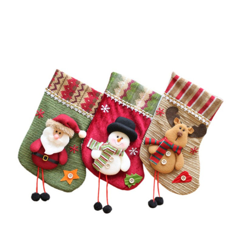 Christmas Stockings Gift Bag Door Window Decoration with Lid Christmas Gifts Hanging Stockings Christmas Decoration