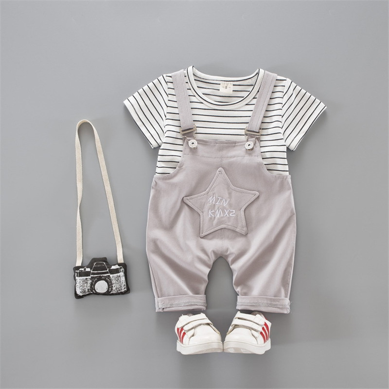 New Summer Cute Girls Boys Clothes Baby Clothing Sets Toddler Girl Clothing Infant Cloth ...