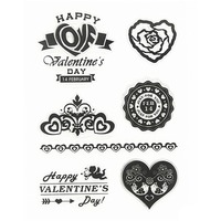 Scrapbook DIY Photo Cards Clear Stamps Transparent Silicone Rubber Stamps Happy Valentine's Day Clear Stamps.