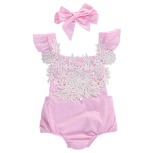 Newborn Baby Girls Floral Lace Newest Fashion O-Neck Sunsuit Rompers Clothes Jumpsuit Outfits 0-18M