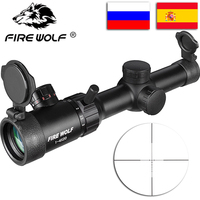 FIRE WOLF New 1 4X20 Riflescopes Rifle Scope Hunting Scope W/ Mounts Free Shipping