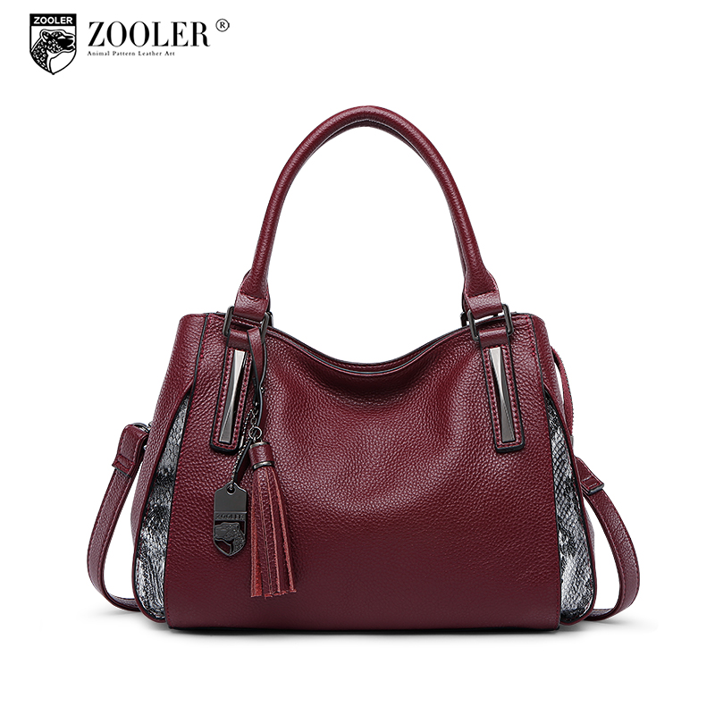ZOOLER 2018 NEW genuine leather bag woman leather bags handbags famous brand Simple&classic hot bag luxury bolsa feminina #h105 247 classic leather
