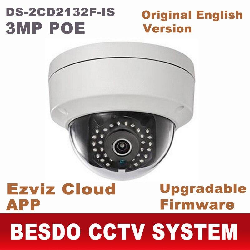 bilder für 3MP ip-kamera dome POE HD 1080 P netzwerk ipcam sicherheit videoüberwachung DS-2CD2132F-IS ersetzen DS-2CD2135F-IS ds-2cd2132-i