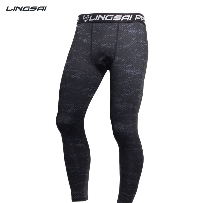 Men Running Sports Compression Tight Long Pants Black Trousers Joggers Slim Fit Mallas Fitness Pants New