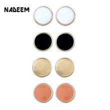 цена на NADEEM Fashion Round Ball Alloy Stud Earrings Set For Mixed 4 Pairs/Set Women Hot-selling Cute Enamel Stud Earrings Sets Jewelry