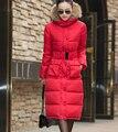 2016 Venta Caliente de Las Mujeres de Invierno de Algodón Abrigo Mujer Engrosamiento Caliente de alta Calidad Con Capucha de Las Señoras Delgado Parkas Chaqueta Y Abrigo HJ56