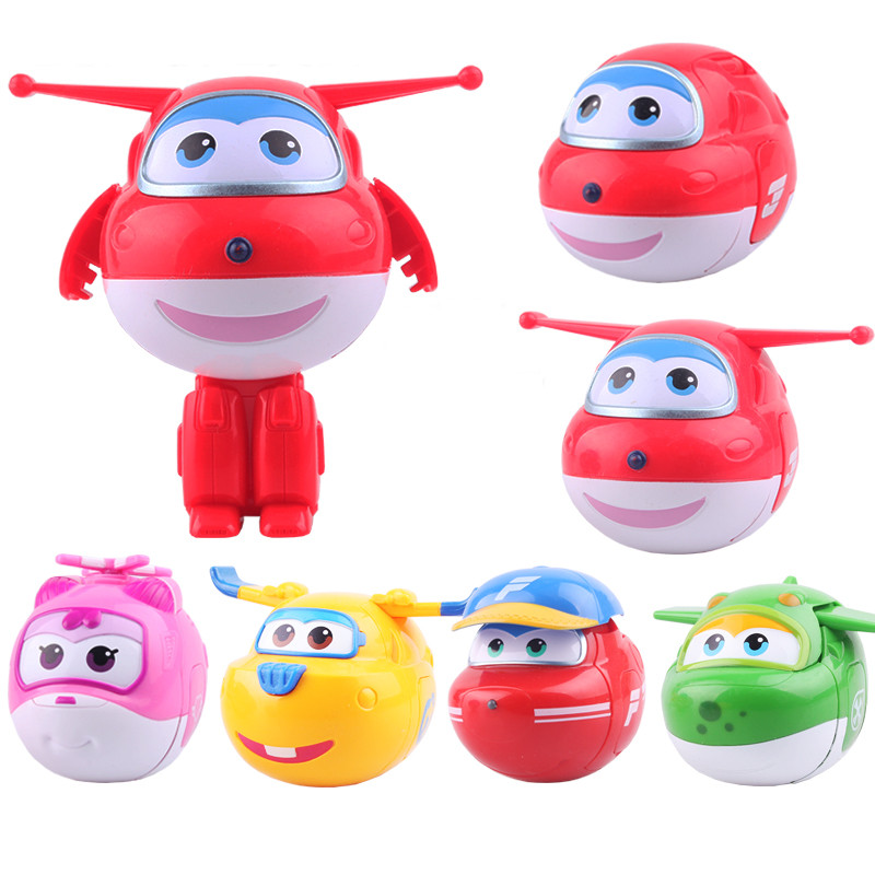 12 styles Super Wings egg toys Mini Plane Model Transformation Airplane Super Wing Action Figures for Birthday Gift Brinquedos