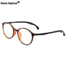 Gmei Urltra-Luz TR90 Estudante Rodada Armações de Óculos Óptica Com Cabides  de Plástico Miopia Presbiopia Óculos M6065 2b498c581c