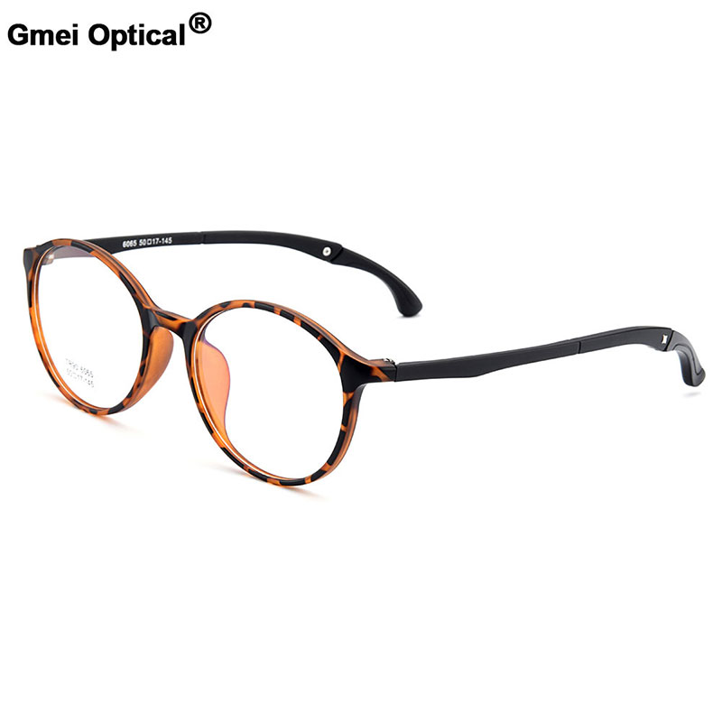 cb1e2415af1b8 Gmei Optical Urltra-Light TR90 Student Round Optical Eyeglasses Frames With  Hangers Plastic Myopia Presbyopia