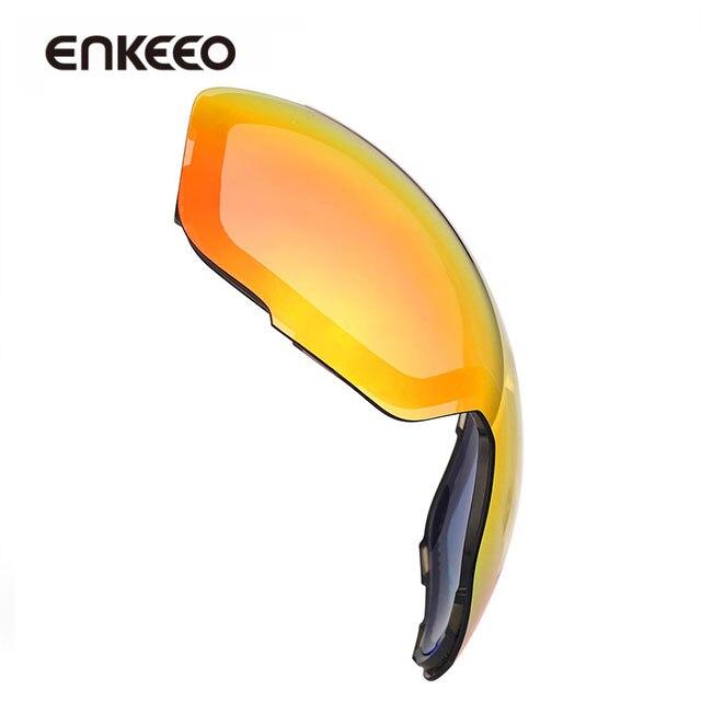 788a500ed61a56 Enkeeo Ski Lunettes Remplacement Lentilles Anti brouillard 100% UV400  Protection pour Ski Snowboard Motoneige De Patinage Sports D hiver dans de  sur ...
