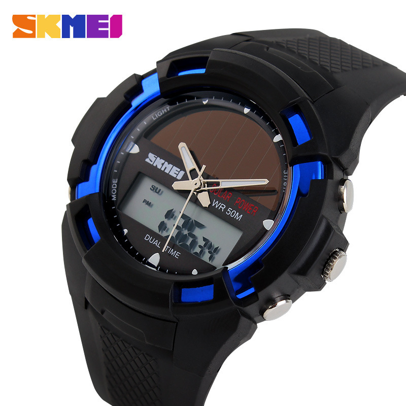 2017 Nuevo sólido relojes hombres reloj resina atómica reloj deportivo  solares 2 Zona de tiempo digital LED cuarzo hombres Relojes casual Relojes eeb0d3d16479