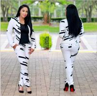 fb73539ce3 2018 African Dress Daxi New Traditional Sexy Yin Yang Printed Small Suit  Two Piece