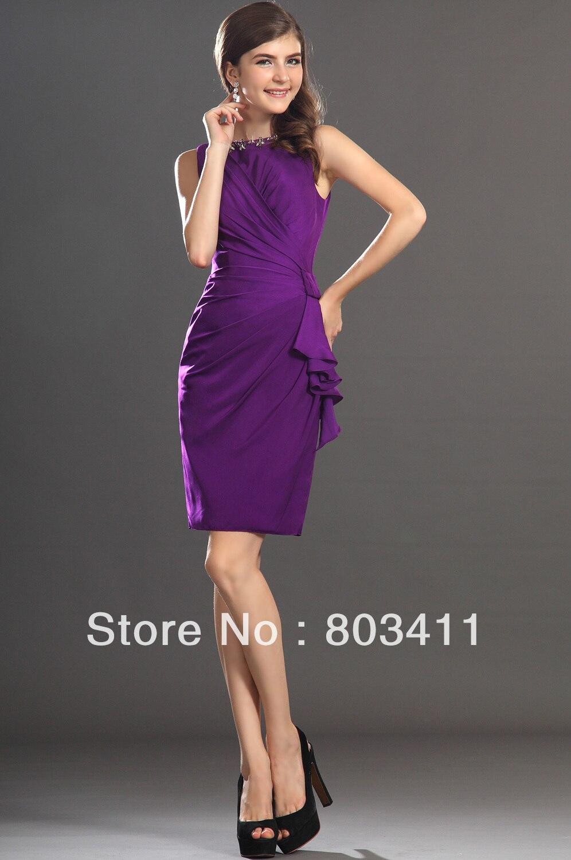 Popular Cocktail Dress Purple-Buy Cheap Cocktail Dress Purple lots ...
