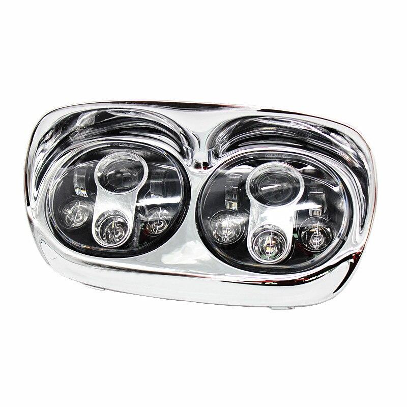 Daymaker Projector Dual LED Headlight for Harley Davidson Road Glide 2004 2013