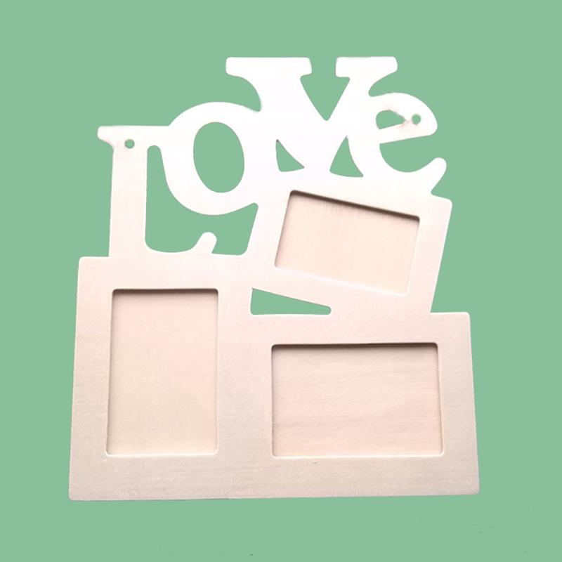 Wooden Photo Frame Letter Love English Mounted Wall Hanging Photo DIY Painting Picture Frame Wall Photo Decoration Frame