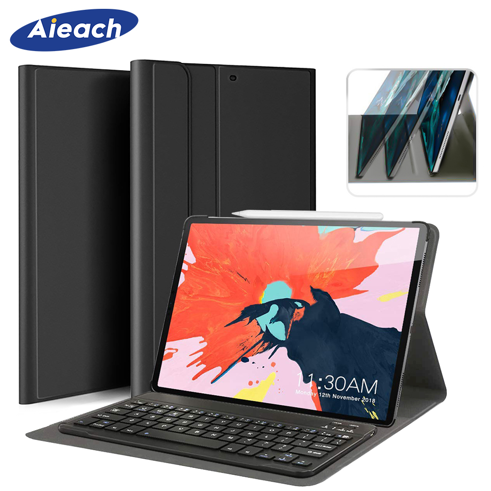 Cover For iPad Pro 11 2018 Case With Wireless Bluetooth Keyboard + Smart Magnetic PU Leather Case For New iPad Pro 11 inch FundaCover For iPad Pro 11 2018 Case With Wireless Bluetooth Keyboard + Smart Magnetic PU Leather Case For New iPad Pro 11 inch Funda