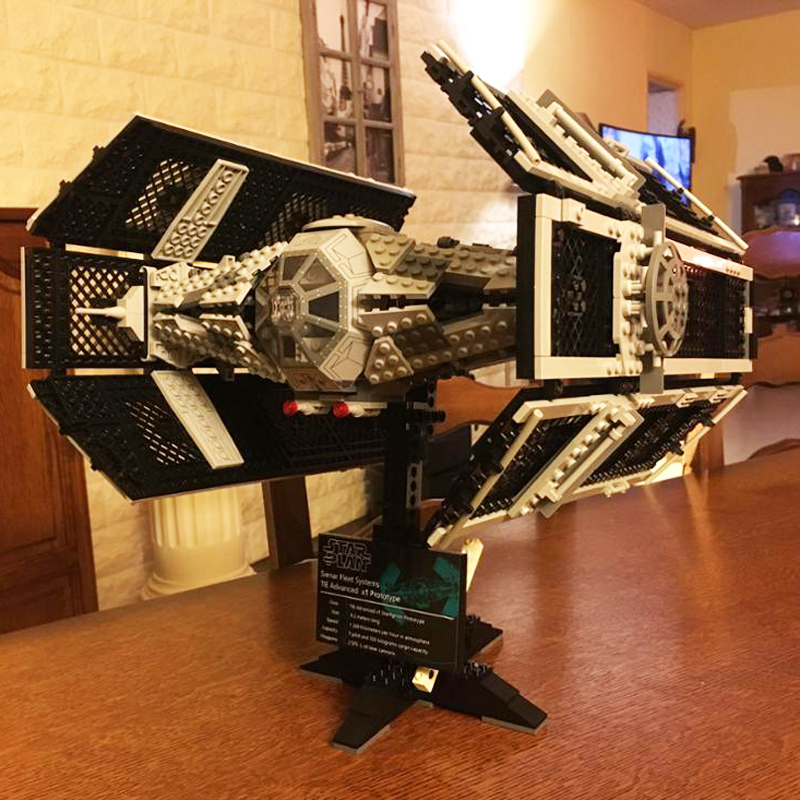 Star Building bricks Wars 05055 The Rogue TIE One USC Vader Advanced Fighter Set Model 1242pcs Building Blocks Toys 10175 lepin 05055 star 1212pc toy wars the rogue one usc vader tie advanced fighter set 10175 building blocks bricks educational toys