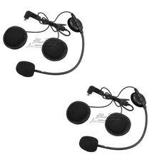 2 pcs Earpiece Microphone For BT-S2 BT-S1 Motorcycle Bluetooth Intercom Interphone Helmet Headset