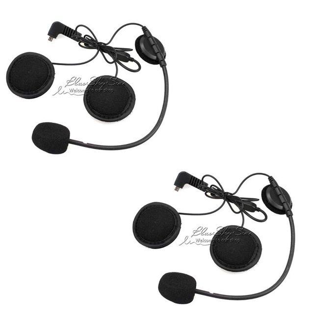 Frete Grátis! 2 pcs Microfone Do Fone De Ouvido Para BT-S2 BT-S1 Interfones Capacete Da Motocicleta Do Bluetooth Interfone Headset