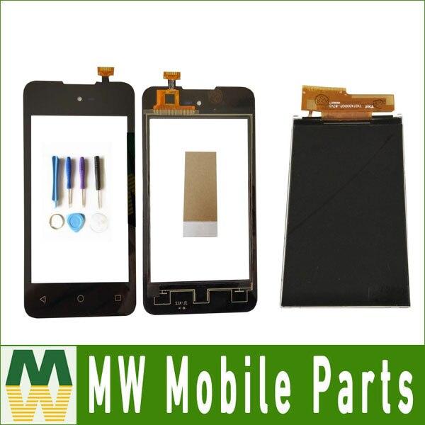1 PC/Lot Haute qualité 4.0 Pour Micromax Bolt D303 SeperateTouch Écran Digitizer Et Lcd Affichage Noir Couleur avec outils + bande