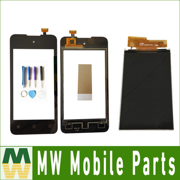 1PC/ Lot High quality 4.0 For Micromax Bolt D303 SeperateTouch Screen Digitizer And Lcd Display Black Color with tools+Tape
