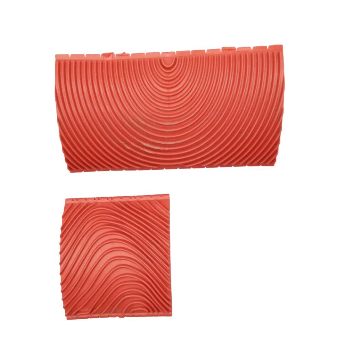 Livraison gratuite 2 pcs Bois Grainage Grain Caoutchouc Patin Peinture Effets DIY Mur Décoration Outils