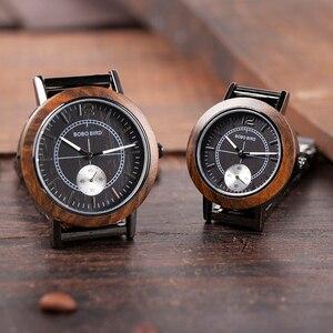 Image 5 - BOBO BIRD montre pour amoureux, luxe, bracelet en bois pour Couple élégant et de qualité, combinaison de couleur spéciale, K R12