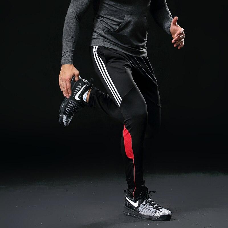 Männer Sport Laufhose Taschen Athletische Fußball Fußball hose Training sport Hosen Elastizität Legging jogging Gym Hose 316