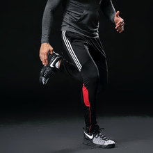 Men Sports Running Pants Pockets Athletic Football Soccer pant Training sport Pants Elasticity Legging jogging Gym Trousers 316(China)