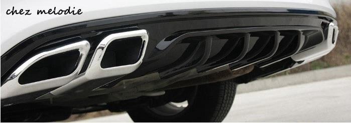 Новый утолщенной искусственная выход автомобиля задний диффузор бампер для Хендай Элантра Аванте 2016 1.6 л