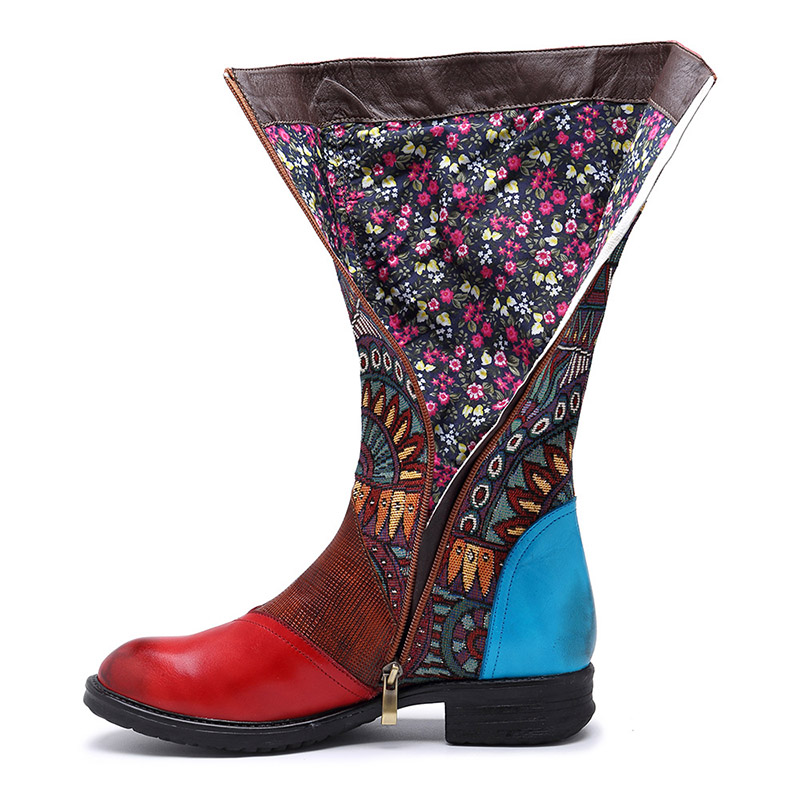 Alta Zapatos Pour De 2019 Rojo Mujer Plataforma Moda Bottes Goma Botas Femme Genuino Red Sondr Tiempo Cuero Altas zwxcSOwZqE