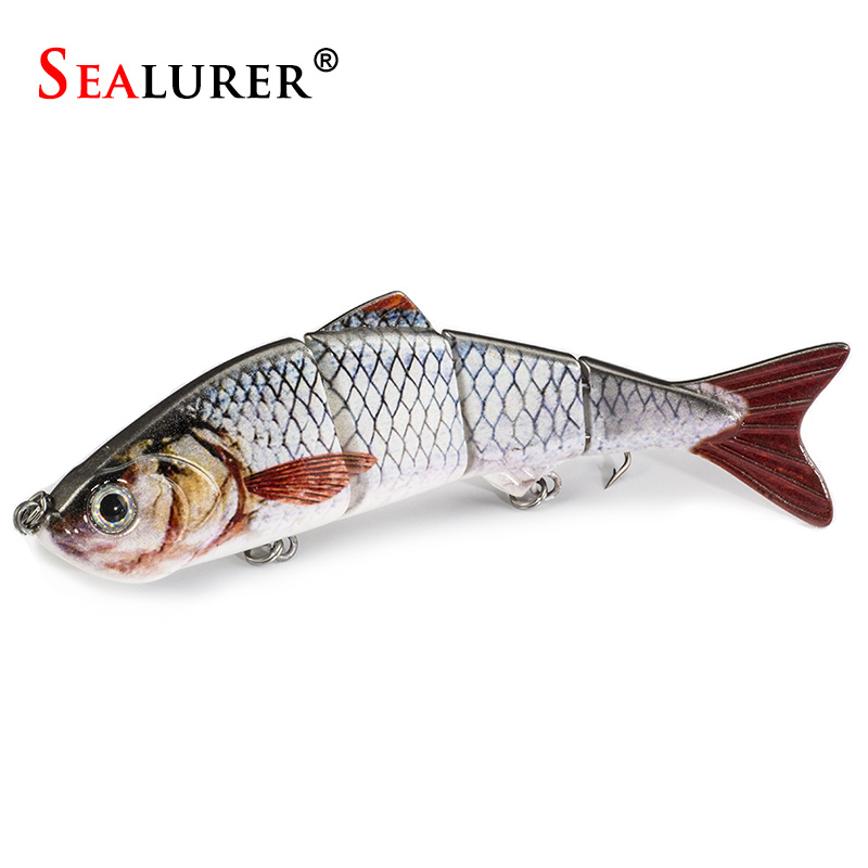 SEALURER Fishing Lure 4 Segment Pesca Swimbait Crankbait 5 Colors 12cm/17g Wobbler Isca Artificial Hard Bait Fishing Tackle 1pcs sealurer fishing lure minnow hard bait pesca floating wobbler 8cm 7 5g isca carp crankbait jerkbait 5colors 1pcs lot