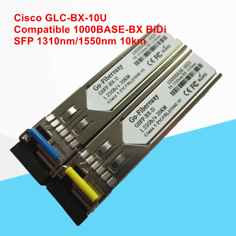 GLC BX 10U Compatible 1000BASE BX SFP Transceiver Module (SMF, 1310nm TX/1550nm RX, 10km, LC, DDM)-in Fiber Optic Equipments from Cellphones & Telecommunications