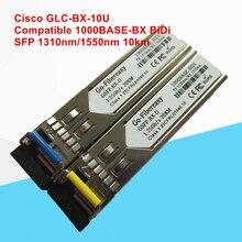 GLC-BX-10U Compatible 1000BASE-BX SFP Transceiver Module (SMF, 1310nm-TX/1550nm-RX, 10km, LC, DDM) трансивер d link 330t 10km a1a wdm sfp 1x1000base bx d tx 1550nm rx 1310nm