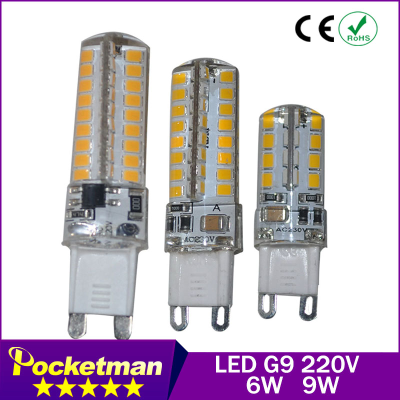 1pcs G9 LED Bulb 220V 6w 9W 12w LED Lamp G9 SMD 2835 LED light 360 degree Beam Angle led spotlight lamps