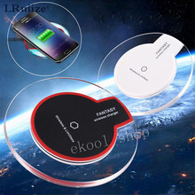 LRuiize Fantasy Crystal Wireless Charging Pad Qi Charger Dock For Apple iphone 8 SE 5S 6 6Plus 6S Plus 7 7 Plus+Receiver Adapter