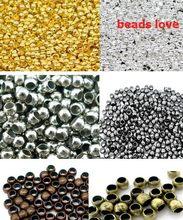 Perles à sertir en boule lisse, diamètre 3mm, 6 couleurs, pour fabrication de bijoux, lot de 500 pièces, w02936, livraison gratuite