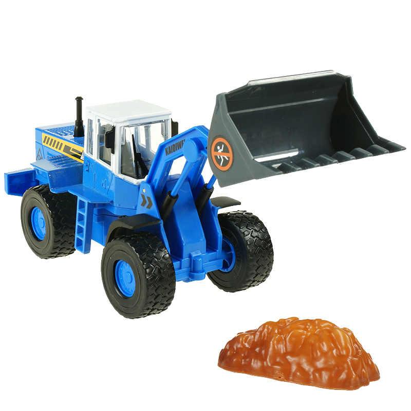 KAIDIWEI Paduan rekayasa model pemuatan truk dump truck anak anak mainan model koleksi hadiah natal tahun baru 1:50