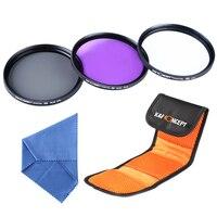 K F Concept 62mm UV CPL FLD Polaring Lens Filter Kit For Nikon D7000 D5200 D5100