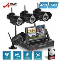 ANRAN Plug And Play P2P LCD Monitor 4CH HD NVR 1080P Outdoor 48 IR Day Night