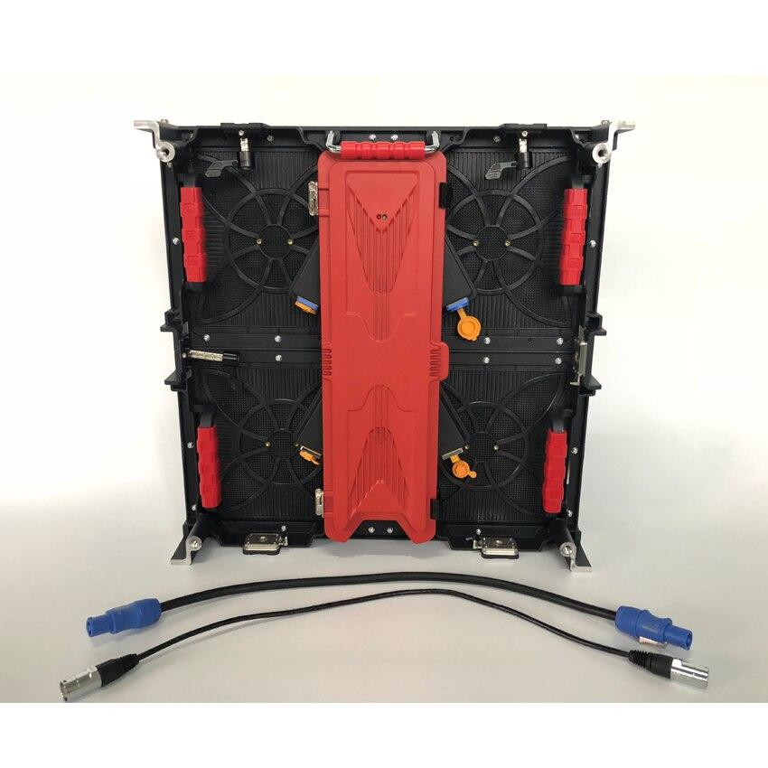 500x500mm en aluminium moulé sous pression armoire P3.91 SMD1921 128*128 Pixels écran de écran rgb LED extérieur pour la publicité location de mur vidéo