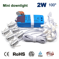 Затемняемый и не тусклый 6 шт./компл. + Драйвер + кабели 2 Вт 180Lm 80Ra домашний новый модный декоративный светильник 15 мм мини светодиодная лампа