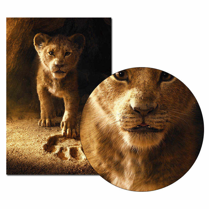 The Lion King Movie Poster Wall Art Canvas Print Canvas Painting 30x45 60x90cm Decorative Picture Wallpaper Living Room Decor Painting Calligraphy Aliexpress